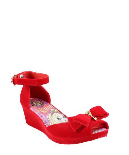 Sandália Plataforma Ever After High Vermelha