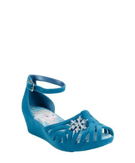 Sandália Plataforma Frozen Azul