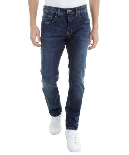 Calça Jeans Slim Azul Escuro