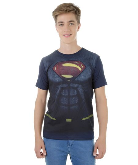Camiseta Batman Vs. Superman Azul Marinho