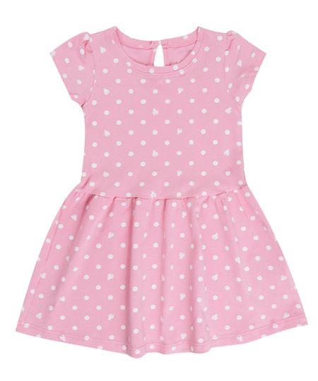 Vestido Estampado de Poás Rosa Claro