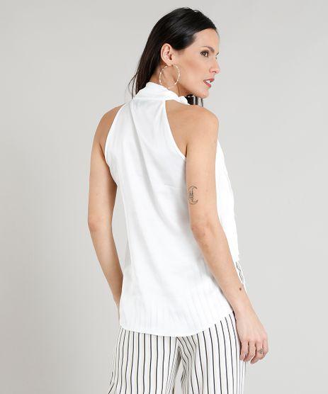 d055c7de94 Blusa Branca Gola Alta em promoção - Compre Online - Melhores Preços ...