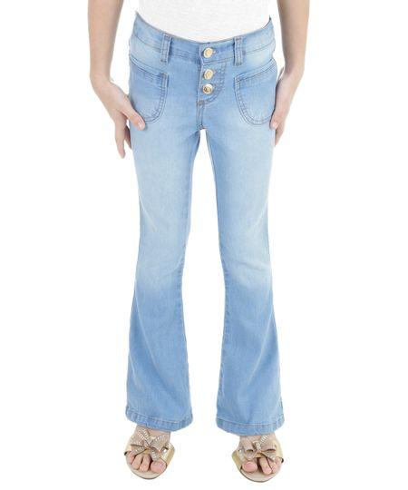 Calça Jeans Flare Azul Claro