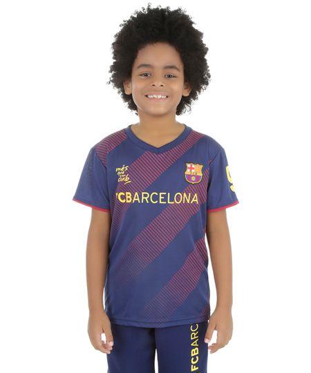 Camiseta Barcelona 9 Azul Marinho