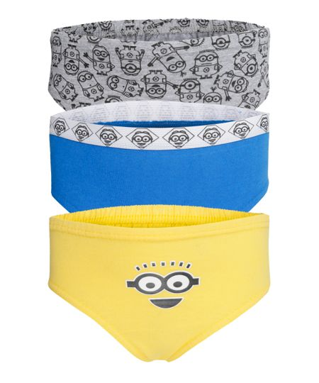 Kit de 3 Cuecas Minions Multicor