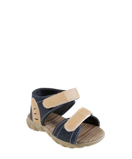 Sandália Papete Azul Marinho