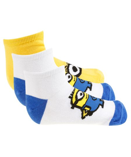 Kit de 2 Pares de Meia Minions Multicor
