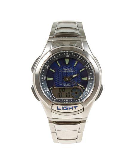 Relógio Casio Masculino Analógico/Digital AQ190WD1AVDF - Prateado