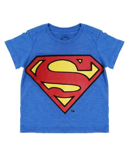 Camiseta Super Homem Azul