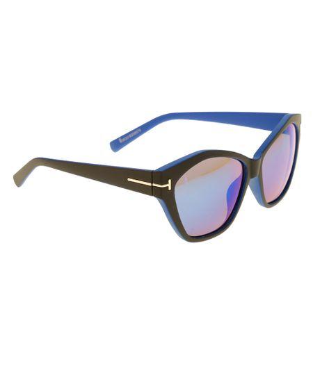 Óculos Gatinho Feminino Oneself Azul Marinho