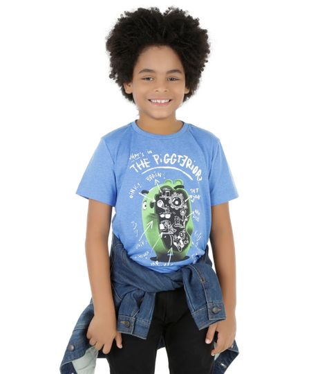 Camiseta Angry Birds Azul