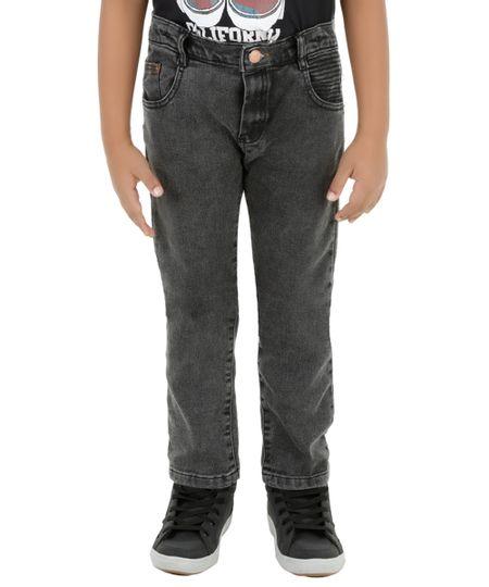 Calça Jeans Slim Cinza Escuro