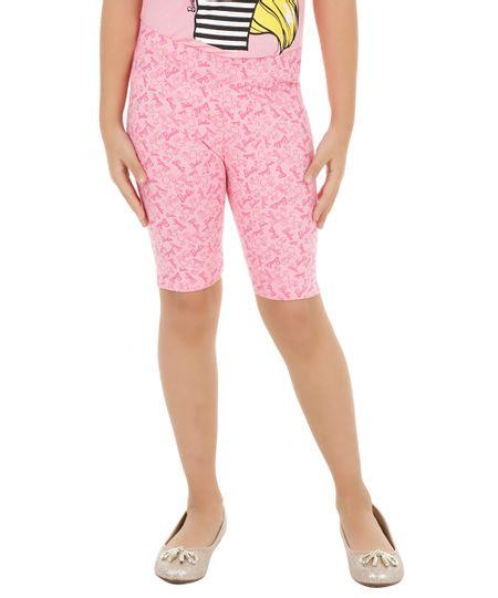 Bermuda Estampada Barbie Rosa