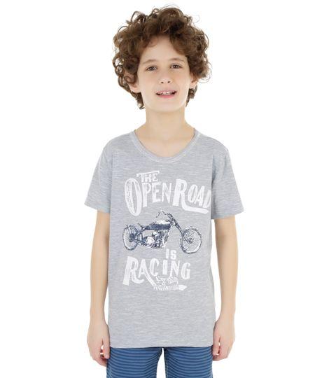 Camiseta Hot Wheels Azul Claro