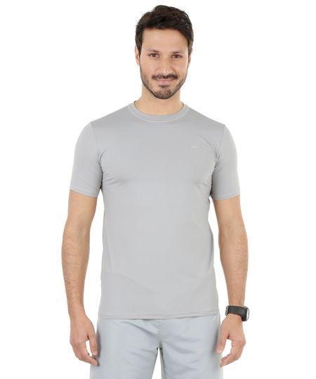Camiseta de Corrida Ace com Proteção UV Cinza Claro