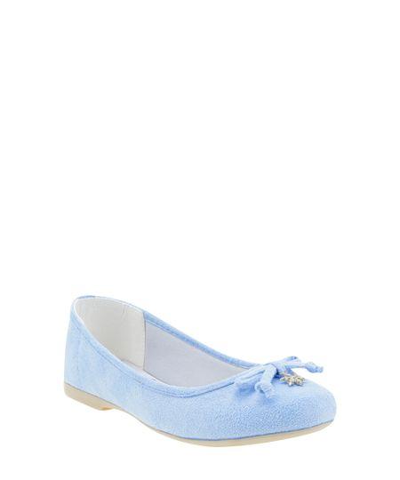 Sapatilha em Suede Frozen Azul Claro