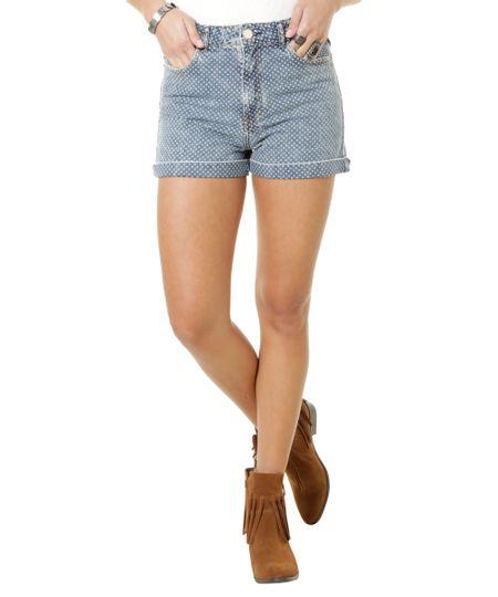Short Hot Pant Jeans de Poás Azul Claro