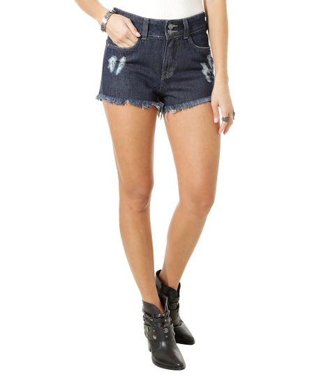 Short Hot Pant Jeans Azul Escuro