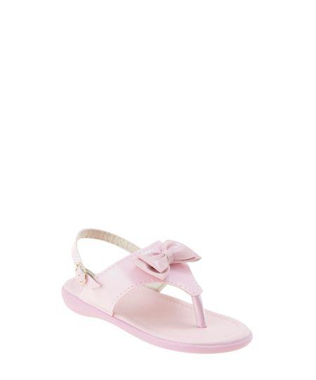 Sandália com Laço Rosa Claro