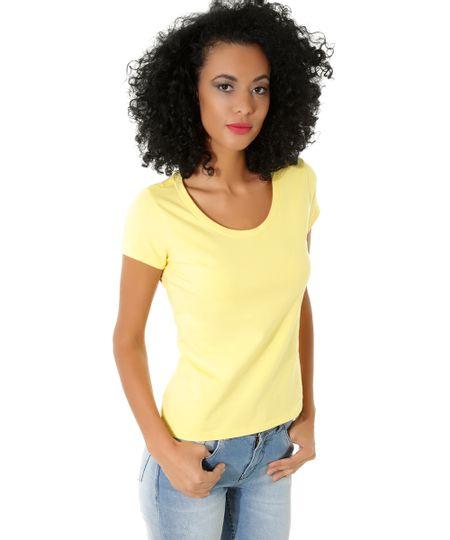 Blusa Básica Amarelo Claro