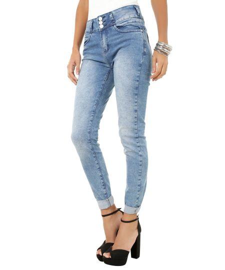 Calça Jeans Super Skinny Azul Médio