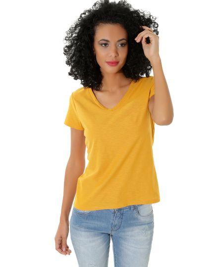 Blusa Flamê Básica Amarela