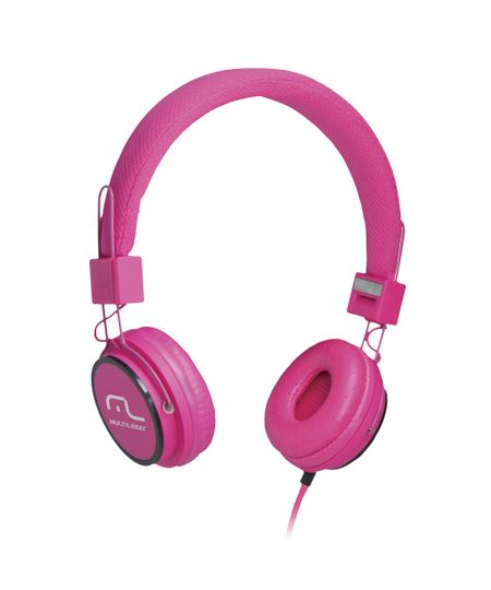 Fone de Ouvido Multilaser Headphone Som Hi-Fi Power Microf.Handsfree Rosa - PH088