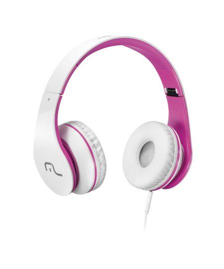 Fone de Ouvido Multilaser com Microfone para Celular Branco e Rosa P2 - PH114