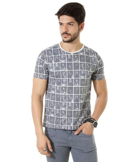 Camiseta Esquadrão Suicida Cinza