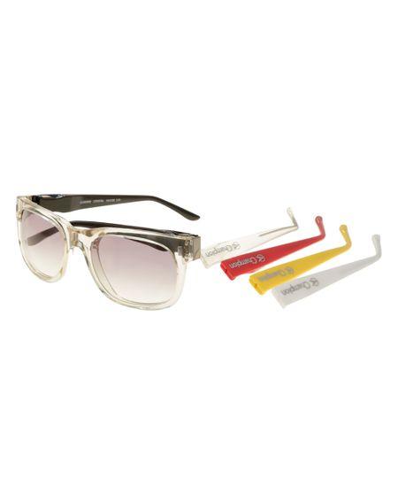 Óculos Quadrado Troca Hastes Champion Transparente
