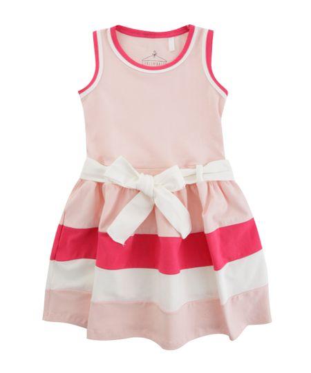 Vestido com Laço Rosa Claro