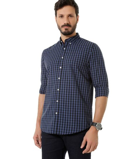 Camisa Xadrez Comfort Azul