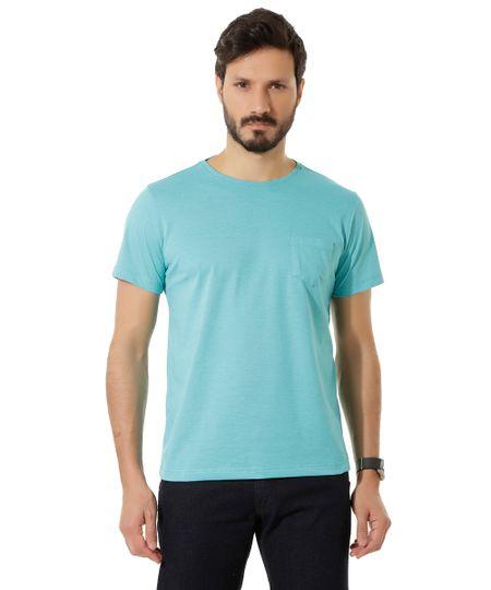 Camiseta Básica Azul Claro
