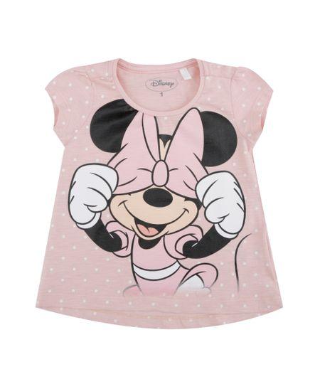 Blusa de Poá Minnie Rosa Claro