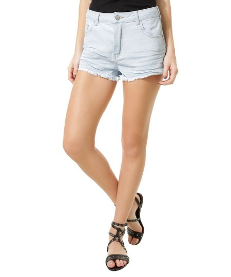 Short Jeans Relaxed Azul Claro