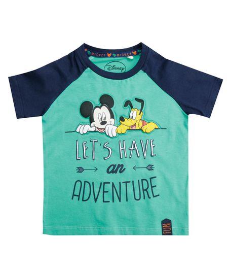 Camiseta Mickey Verde