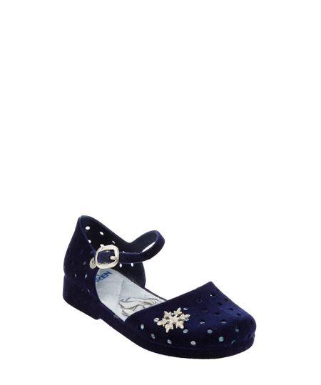Sandália Frozen Flocada Azul Marinho
