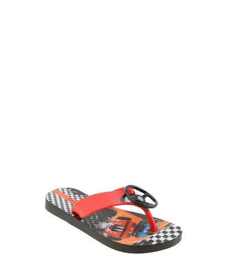 Chinelo Ipanema Hot Wheels Preto
