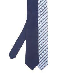 Kit-de-2-Gravatas-em-Jacquard-Azul-8338129-Azul_1