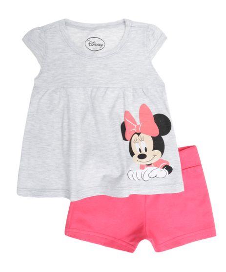 Conjunto-de-Blusa-Cinza-Mescla---Short-Minnie-Rosa-8366134-Rosa_1