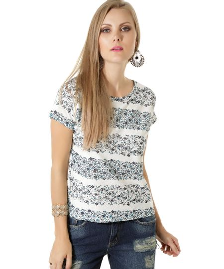 Blusa Floral Off White