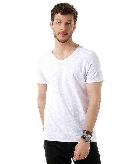 Camiseta Flamê Básica Branca