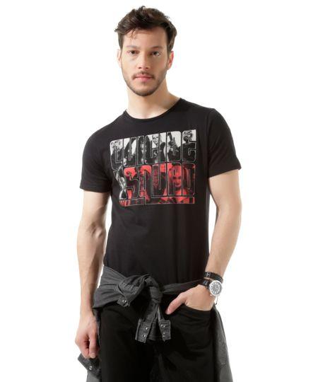 Camiseta Esquadrão Suicida Preta