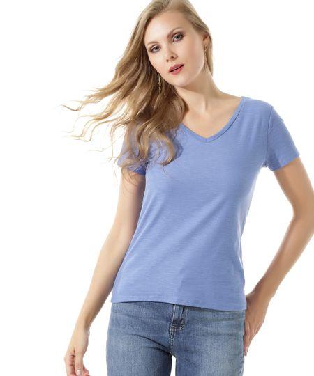 Blusa Flamê Básica Azul Claro