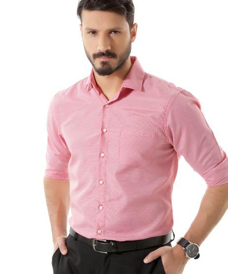 Camisa-Comfort-Pied-de-Poule-Vermelha-8418104-Vermelho_1