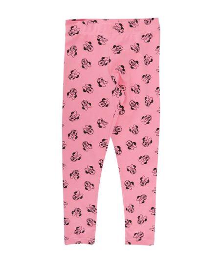 Calça Legging Estampada Minnie Rosa