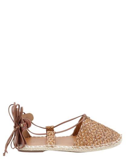Espadrille Lace Up Marrom