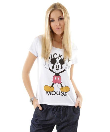 Blusa Mickey Branca