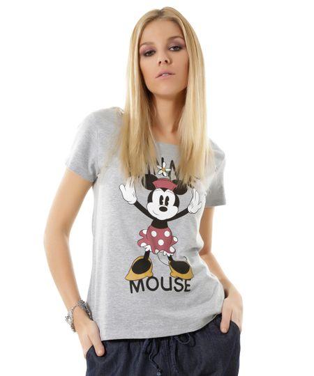 Blusa Mickey Cinza Mescla
