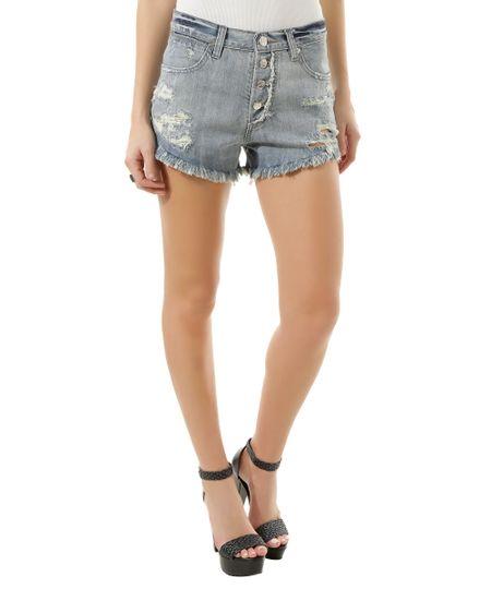 Short Jeans Sawary Azul Claro